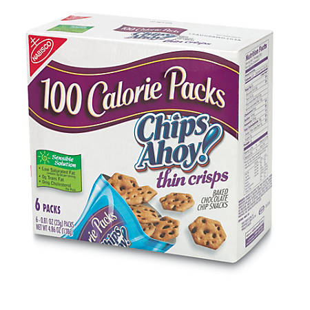 Nabisco® 100-Calorie Chips Ahoy! Crisps Snack Packs, Box Of 6