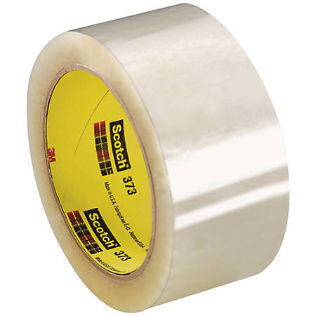 """Scotch® 373 Carton-Sealing Tape, 3"""" Core, 2"""" x 55 Yd., Clear, Pack Of 6"""