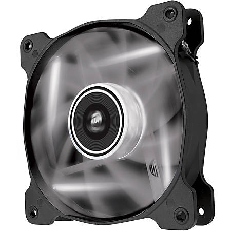 Corsair Air Series AF120 LED White Quiet Edition High Airflow 120mm Fan - Twin Pack - 1 x 120 mm - Sleeve Bearing - Plastic