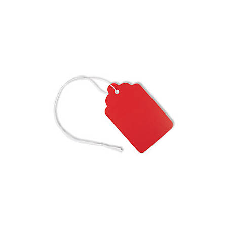 """Office Depot® Brand Merchandise Tags, Size 8, 1.69"""" x 2.75"""", Red, Pack Of 50"""