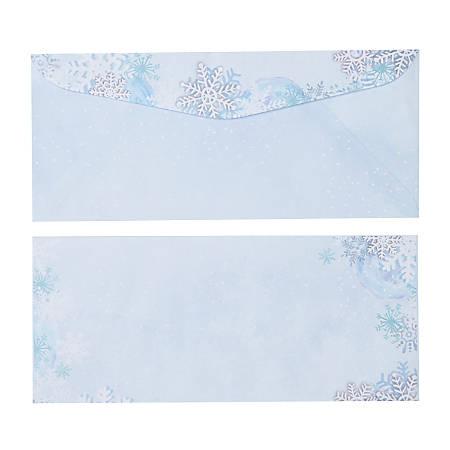 Gartner™ Studios Holiday Envelopes With Moisture Seal, #10, Blue/White, Pack Of 40 Envelopes