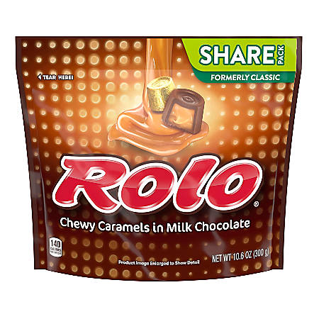 ROLO Milk Chocolate And Caramel Candies 10.6 Oz Bag, Pack Of 3 Bags