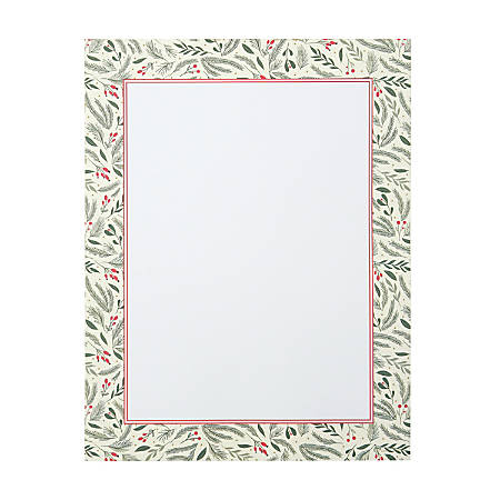 Gartner Studios Holiday Stationery, Letter Paper Size, Holly, 80 Sheets