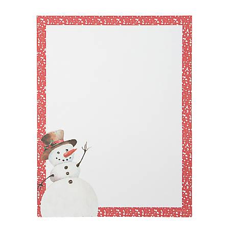 Gartner Studios Holiday Stationery, Letter Paper Size, Snowman, 80 Sheets