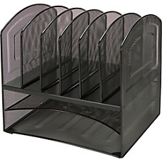 Lorell Steel HorizontalVertical Mesh Desk Organizer