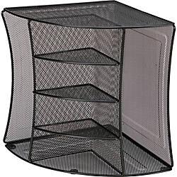 Lorell Steel Mesh Corner Desktop Organizer