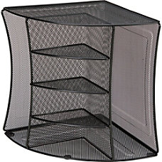 Lorell Steel Mesh 6 Compartment Corner