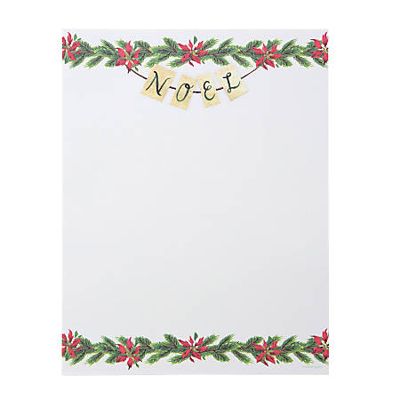 Gartner Studios Holiday Stationery, Letter Paper Size, Noel, 80 Sheets