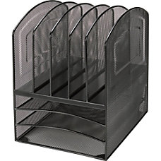 Lorell Mesh Desk Sorter 5 Compartment