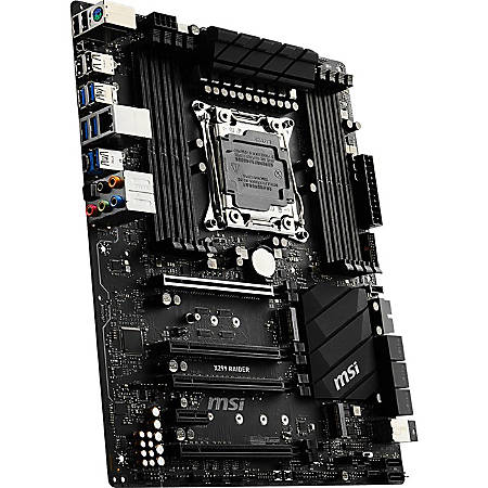 MSI LGA2066 X299 ATX Motherboard Support 7th Gen Intel® Skylake-X and Kabylake-X CPU 128GB RAM Max - 128 GB DDR4 SDRAM Maximum RAM - DIMM - 8 x Memory Slots - Gigabit Ethernet - 6 x USB 3.1 Port - 8 x SATA Interfaces