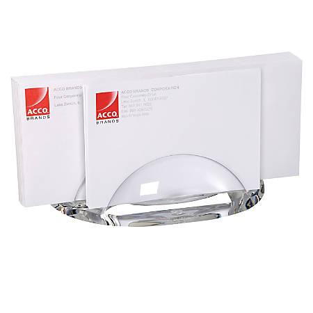 """Swingline® Acrylic Letter Sorter, 7 1/2""""H x 3 1/4""""W x 3 1/2""""D, Clear"""