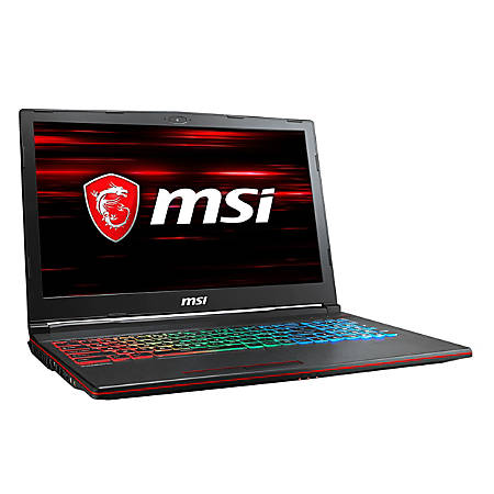"MSI GP63 Leopard-013 15.6"" Gaming Notebook - 1920 x 1080 - Core i7 i7-8750H - 16 GB RAM - 1 TB HDD"