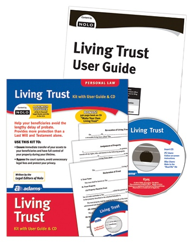 Adams living trust kit by office depot officemax solutioingenieria Choice Image