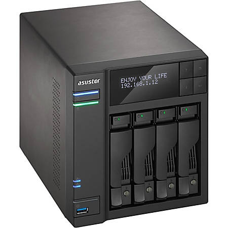 ASUSTOR SAN/NAS Storage System, Intel Core i5 Quad-Core (4 Core), 8GB Memory, AS7004T-I5