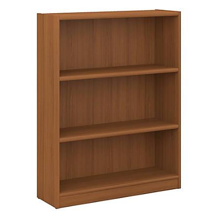Bush Furniture Universal 3 Shelf Bookcase, Royal Oak, Standard Delivery