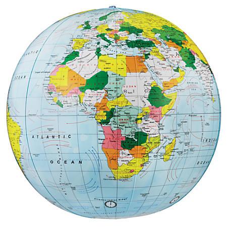 "Replogle® Inflate-a-Globe, Political, 16"", Light Blue"
