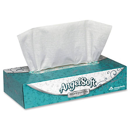 Angel Soft® Professional Series, 2-Ply Tissues, White, Box Of 100