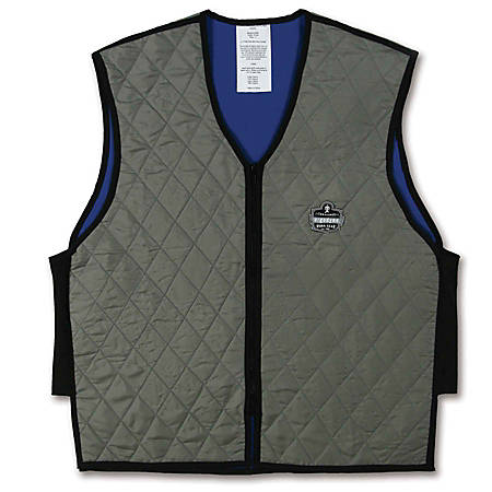 Ergodyne Chill-Its Evaporative Cooling Vest, Medium, Gray, 6665