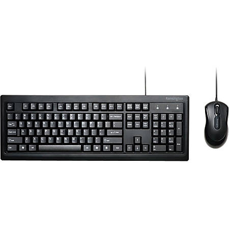 Kensington® Keyboard And Mouse, Black