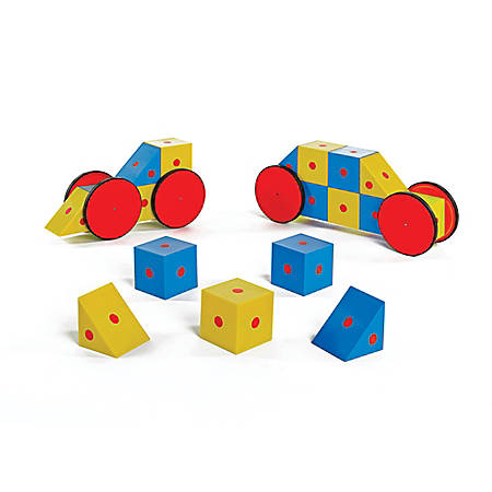 Polydron 3-D Magnetic Blocks 20-Piece Set, Assorted Colors, Grade 1 - 4
