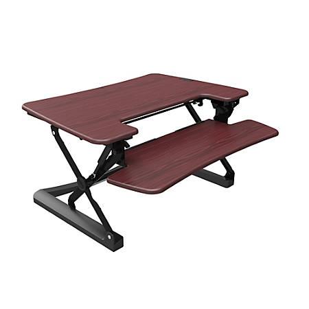"Loctek LX Sit-Stand Desk Riser, 36"", Wood"