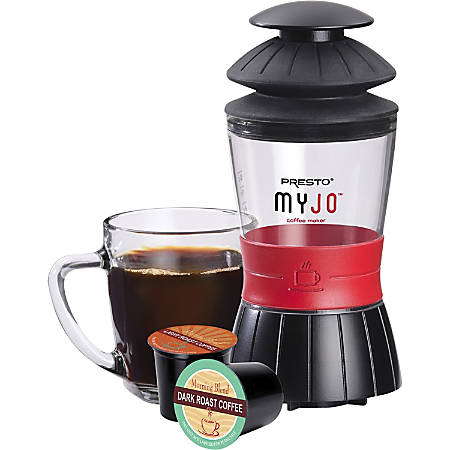 Presto MyJo Single Cup Coffee Maker, Black/Clear