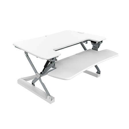 "Loctek LX Sit-Stand Desk Riser, 36"", White"