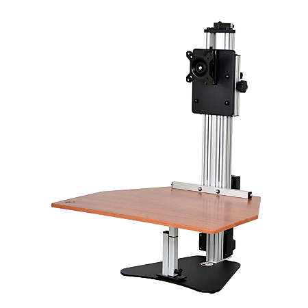 "Ergo Desktop Electric Kangaroo Pro Stand, 27 1/2""H x 28""W x 28""D, Cherry, Standard Delivery"
