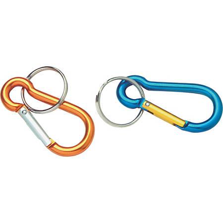 Baumgartens Carabiner Key Ring - Aluminum - 1 Each - Assorted