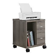 Monarch Specialties Mobile Office Cabinet Dark