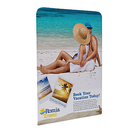 "Custom Printed Full-Color Double-Sided Replacement Graphic For Stretch Fabric Display, 72"" x 5'"