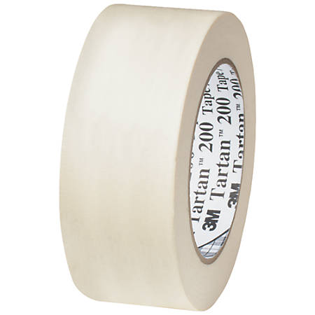 "3M™ Tartan 200 Masking Tape, 3"" Core, 1.5"" x 60 Yd., Natural, Case Of 12"