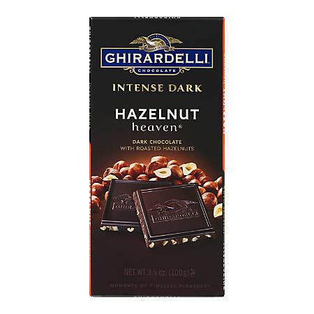 Ghirardelli® Intense Dark, Hazelnut Heaven Bars, 3.5 Oz, Pack Of 12 Bags