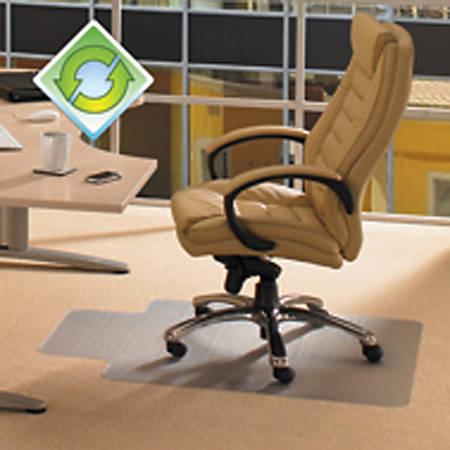 """EcoTex Evolutionmat Polymer Chair Mat For Hard Floors, 36"""" x 48"""", Green Tint"""