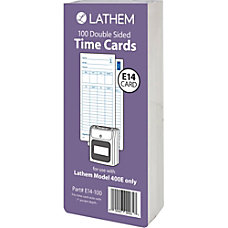 Lathem Model 400E Double Sided Time