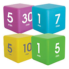 Datexx Time Cube Preset Timers BlueGreenPurpleYellow