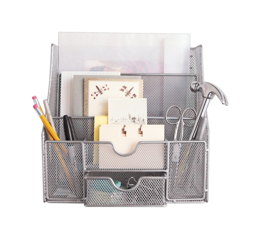 Neat Life Mesh Wall Bureau Silver by Office Depot OfficeMax