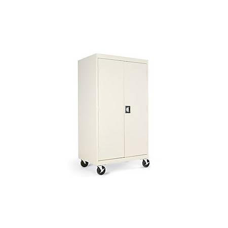 "Alera® Mobile Computer Cabinet, 66""H x 36""W x 24""D, Putty"