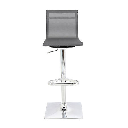 LumiSource Mirage Bar Stool, Silver/Chrome