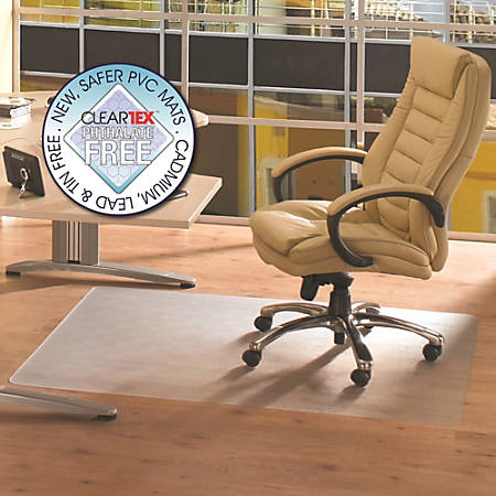"Cleartex Advantagemat Rectangular Chair Mat, Poly, 36"" x 48"", Clear"