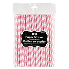 Amscan Striped Paper Straws 7 34