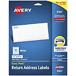 Avery Easy Peel White Inkjet Address