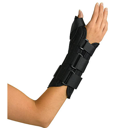 """Medline Wrist/Forearm Splint With Abducted Thumb, Right, Medium, 8"""""""