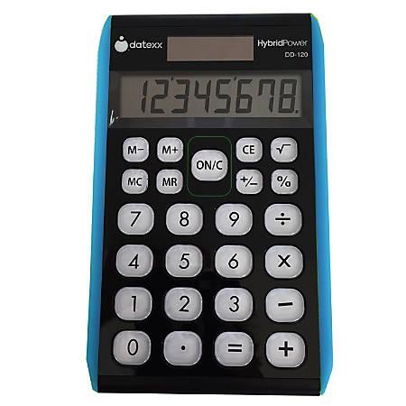 Datexx Hybrid Desktop Calculators, Pack Of 3, DD-120X3