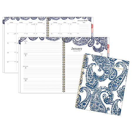 "AT-A-GLANCE® Paige Weekly/Monthly Planner, 8 1/2"" x 11"", January to December 2019"