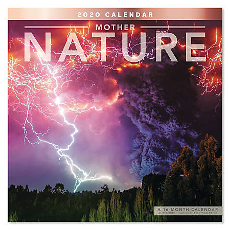 "Mead® Mother Nature Monthly Wall Calendar, 12"" x 12"", January to December 2020, ODE209-10"