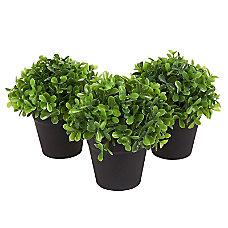 Juvale Fake Plant Decoration Set Of