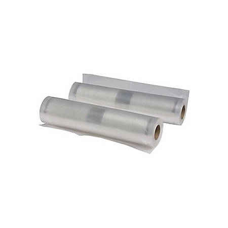 "Nesco 2 Vacuum Sealer Rolls (11.0"" x 19.70') - 11"" Width x 19.70 ft Length - Nylon, Polyethylene - 2Roll - Food"
