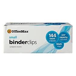 OfficeMax Heavy Duty Black Binder Clips