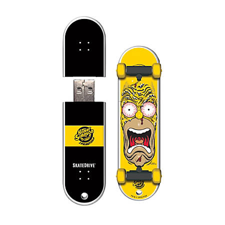 Santa Cruz SkateDrive USB Flash Drive, 16GB, Homer Face